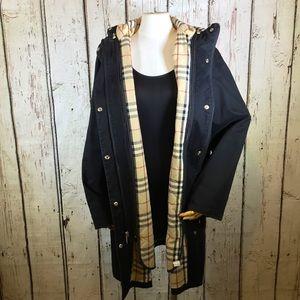 AUTHENTIC Burberry Ella Winter Jacket Coat 12R w/ Removable Nova Check Lining